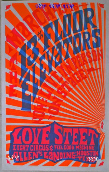 Vintage concert posters buy or sell concert posters for 13th floor elevators band